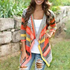 Fashion Autumn Women Sweater Long Sleeve Cardigan Open Stitch Crochet Loose Knitted Sweaters Coat Outerwear Plus Size