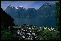 Sisikon Lake in Luzern Switzerland