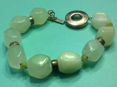 925 Sterling Silver & Pale Green Chinese Jade by SterlingSterling