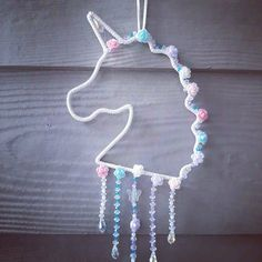 Unicorn Decor, Unicorn Gifts, Nursery Art, Nursery Decor, Handmade Rakhi, Moon Decor, Dream Catcher Boho, Window Art, Magical Unicorn