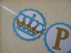 Prince Banner royal baby shower prince theme royal by NiuDesigns, $20.00