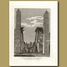 26 x 21 cm (10.25 x 8.25 inches).EgyptThis original antique engraving is from a…