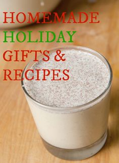 homemade holiday gifts and recipe  http://ournourishingroots.com/8-homemade-holiday-gifts-and-recipes/
