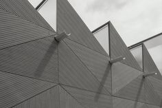 Cement Fiber Boards with textured detail. EQUITONE [linea] Clerkenwell pavilion London