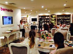 Wedding planning store event with bloggers for Bernardo brand at Zorlu Shopping Center..