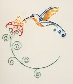 Hummingbird - Paper Quilling by 6re9.deviantart.com on @deviantART