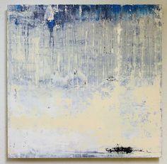 cool painting -55 x 55 x 5 cm, mixed media on board - CHRISTIAN HETZEL