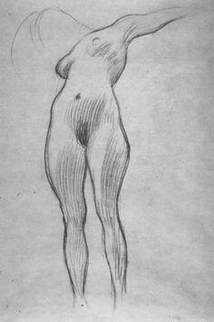 Life drawing, Gustav Klimt