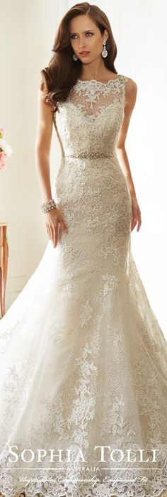The Sophia Tolli Spring 2015 Wedding Dress Collection - Style No. Y11561 Teal www.sophiatolli.com #weddingdresses