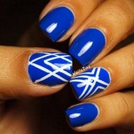 Sinful Colors Endless Blue with striping tape accents