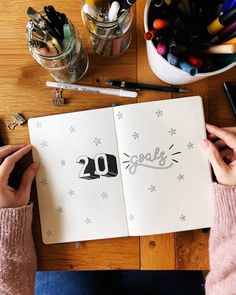 20 for 2020 goals template for bullet journal #bulletjournalinspiration #letteringart #20for2020template #20for2020