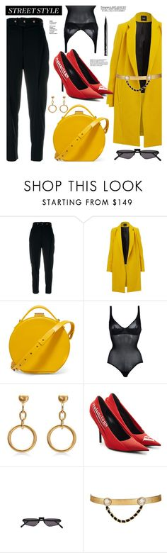"""OOTD"" by gigi-lucid ❤ liked on Polyvore featuring Proenza Schouler, Nico Giani, Wolford, Marni, Balenciaga, Andy Wolf, Maison Mayle, NYX, StreetStyle and outfit"