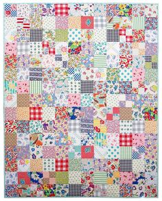 Vintage and Feedsack Fabric Quilt | Red Pepper Quilts | Bloglovin'