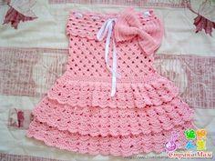 платье крючком для девочки схемы и описание