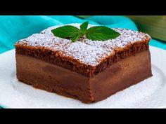 Két rétegű sütemény, de csak EGYET készítesz!| Ízletes TV - YouTube Flan, Caramel, Cheesecakes, Tofu, Cooking, Desert Recipes, Layering, Bolo De Chocolate, Crack Cake