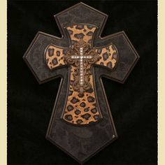 """Like this product in the ChristianGiftsPlace.com Online Store and receive $2.24 off. This 14"""" wall cross has been made with two layers of painted wooden, a resin cross with crystals. This is certain to make a statement on most any wall."""