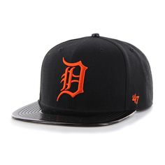 9bef4c77a31 Detroit Tigers 47 Brand Black Shinedown Snapback Adjustable Hat