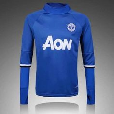 Manchester United 16-17 Season Blue Soccer Sweater [H118]