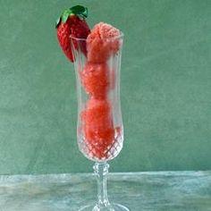 Champagne Sorbet with Berry Medley Allrecipes.com