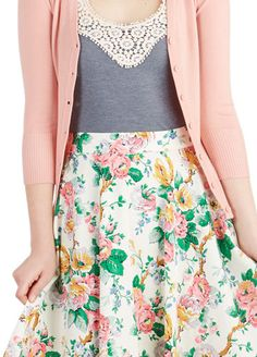 This is an outfit that would turn me straight. So cute and beautiful -- Sweet for Spring
