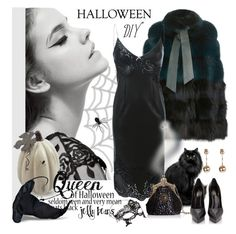 """""""Halloween costume"""" by edita1 ❤ liked on Polyvore featuring Elie Saab, Accessorize, Ermanno Scervino and diycostume"""