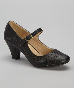 Another great find on #zulily! Black Mina Mary Jane by Chase & Chloe #zulilyfinds