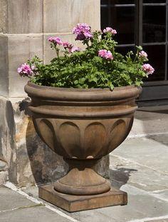 Augusta cast stone Urn made by Campania International