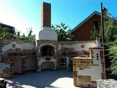 ЧУДО-ПЕЧЬ на Осокорках, шамотная керамика, плитка для отделки каминов,печей,гриля, барбекю,саун Печные комплексы - гриль-барбекю, варочные плиты, тандыр и украинская печь с шамотной облицовкой. Bbq, Mansions, House Styles, Home Decor, Barbecue, Mansion Houses, Homemade Home Decor, Barbacoa, Barrel Smoker