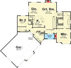 Angled 2 Bed European Cottage - 62549DJ | Architectural Designs - House Plans