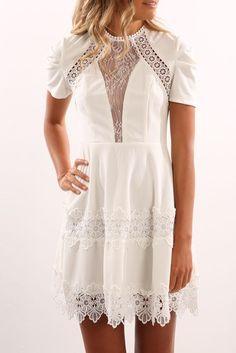Kavala Dress White