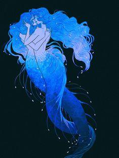 "gabriellemkari: ""Ending soft with Day 31 of Mermay "" Lesbian Art, Gay Art, Manga Couples, Queer Art, Mermaids And Mermen, Mermaid Art, Pretty Art, Aesthetic Art, Art Inspo"