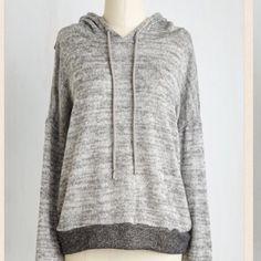 Split-back, long sleeve two-tone gray hoodie. Long sleeve two-tone gray hoodie.  Super cute back! ModCloth Tops Sweatshirts & Hoodies
