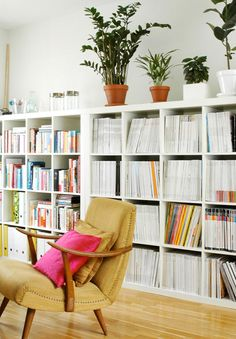 i want to streamline book/magazine storage in the new place