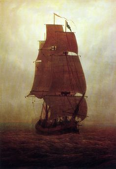 Sailing ship - Caspar David Friedrich - tall ship