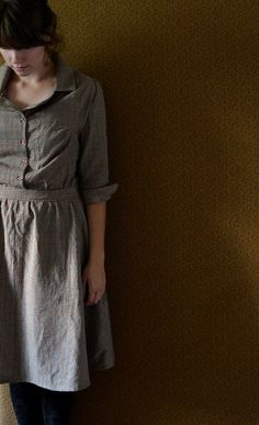1928 Homespun Dress size 6 small s by LetsBacktrack on Etsy, $78.00