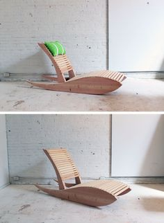 A modern hybrid between an Adirondack and a rocking chair, this project makes for a great and comfortable addition to your patio. Check out the website for the full instructions and material list! http://www.homemade-modern.com/ep52-lounge-chair-1/