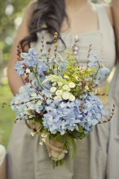 How we can use the hydrangea's. Wildflower bouquet by britney