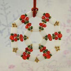Le gioie di Happyland: Tila for Christmas - smukke kranse i tilabeads og forskelige farver - 3 forskellige