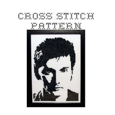 DIY The Tenth Doctor Dr Who .pdf Original Cross by bombastitch Diy Doctor, Tenth Doctor, Famous Portraits, Cross Stitch Patterns, Bead Patterns, Dmc Floss, Dr Who, Pattern Blocks, The Originals
