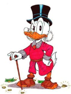 Scrooge McDuck, Duck Extraordinaire. From Uncle Scrooge Comic Books.