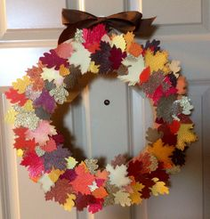 18in decorative fall wreath by PaperCrownCreations on Etsy