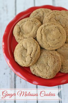 Soft & Chewy Ginger Molasses Cookies - One of my favorite Christmas cookies!