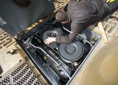 The Maybach emgine is visible with the rear maintenace hatch open on Tiger 1 nr. 131 which is the only working example. It was restored to running condition over a 2 year span by the Bovington Museum in England