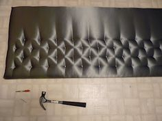 Simple Tufted Headboard DIY - exactly the color and concept that I want - have to try!