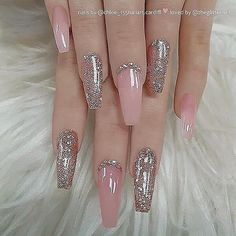 There are three kinds of fake nails which all come from the family of plastics. Acrylic nails are a liquid and powder mix. They are mixed in front of you and then they are brushed onto your nails and shaped. These nails are air dried. When creating dip. Best Acrylic Nails, Acrylic Nail Designs, Nail Art Designs, Nails Design, Nails Acrylic Coffin Glitter, Elegant Nail Designs, Coffin Nails Long, Long Nails, Prom Nails