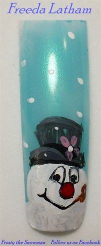Frosty the Snowman by FreedaLatham from Nail Art Gallery