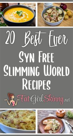 20 Best Ever Syn Free Slimming World Recipes | Fatgirlskinny.net | Slimming World Recipes & More Slimming World Soup Recipes, Slimming World Speed Food, Slimming World Fakeaway, Slimming World Dinners, Slimming World Chicken Recipes, Slimming Eats, Slimming World Breakfasts Free, Slimming World Cheesecake, Slimming World Syns List
