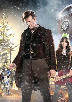 Doctor Who Christmas Special 2013. The Time of the Doctor.  BBC synopsis:  Orbiting a quiet backwater planet, the massed forces of the universe's deadliest species gather, drawn to a mysterious message that echoes out to the stars. And amongst them – the Doctor. Rescuing Clara from a family Christmas dinner, the Time Lord and his best friend must learn what this enigmatic signal means for his own fate and that of the universe.