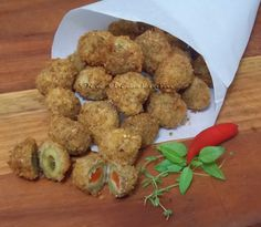 Olive Fritte - Azeitonas Fritas - Na Biroskinha