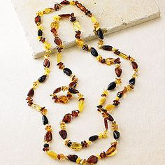 Amber Fantasy Rope Necklace